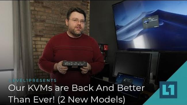 Embedded thumbnail for New KVMs -- Back And Better Than Ever! (2 New Models - USBc and HDMI)