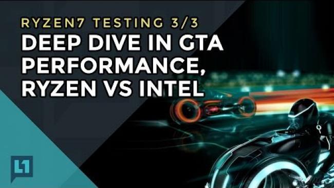 Embedded thumbnail for Gameplay/Frametimes of GTA V on Ryzen & Intel