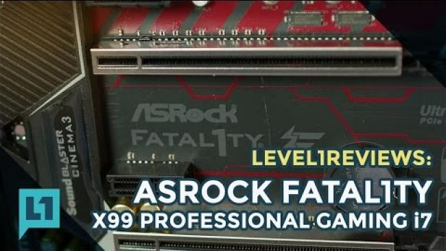 Embedded thumbnail for ASRock X99 Fatal1ty Professional Gaming i7 Motherboard Review