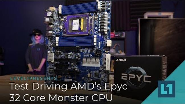 Embedded thumbnail for Test Driving AMD's Epyc 32 Core Monster CPU