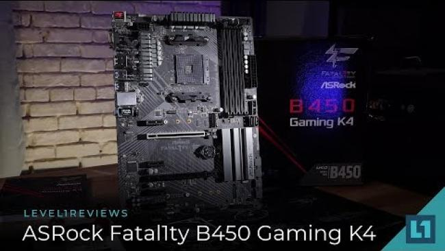 Embedded thumbnail for ASRock Fatal1ty B450 Gaming K4 Review + Linux Test
