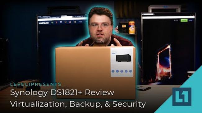 Embedded thumbnail for Synology DS1821+ Review - Virtualization, Backup, & Security