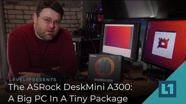 Embedded thumbnail for The ASRock DeskMini A300: A Big PC In A Small Package