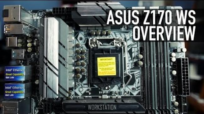 Embedded thumbnail for ASUS Z170 WS Motherboard Overview