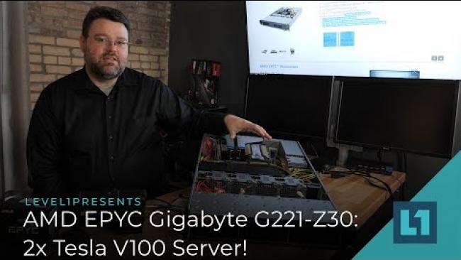 Embedded thumbnail for AMD Epyc Gigabyte G221-Z30: 2x Tesla V100 Server!