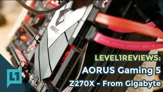 Embedded thumbnail for Aorus Z270X Gaming 5 Motherboard Review from Gigabyte