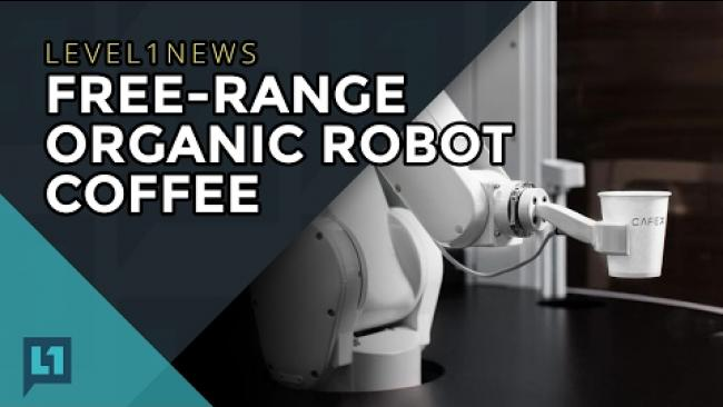 Embedded thumbnail for L1News: 2017-02-07 Free Range Organic Robot Coffee
