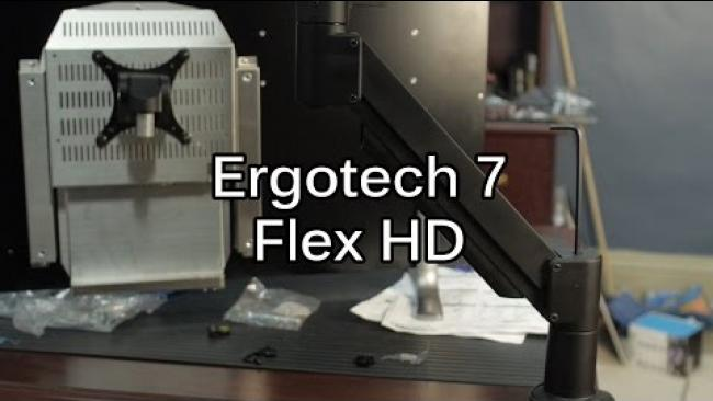 Embedded thumbnail for The Ergotech 7 Flex HD - Monitor Mounting Solution even for large displays