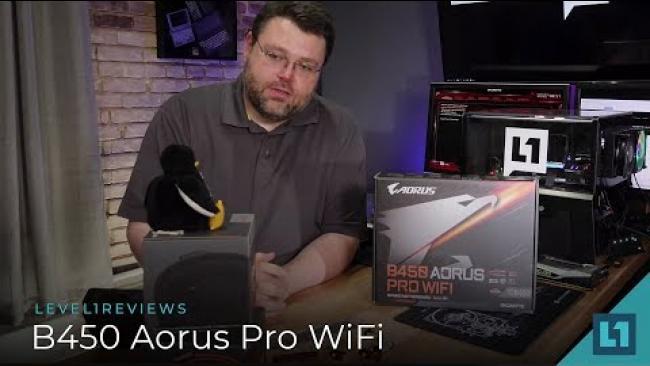 Embedded thumbnail for Gigabyte B450 Aorus Pro WiFi Review + Linux Test