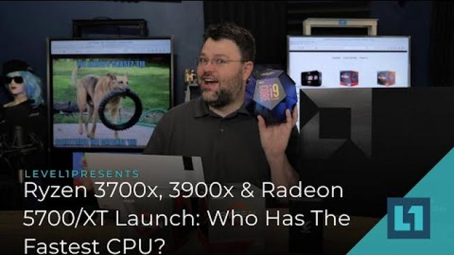 Embedded thumbnail for Ryzen 3700x, 3900x & Radeon 5700/XT Launch: Yeah but who has the fastest CPU?