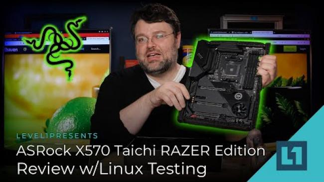 Embedded thumbnail for ASRock X570 Taichi RAZER Edition - Full Review w/Linux Testing