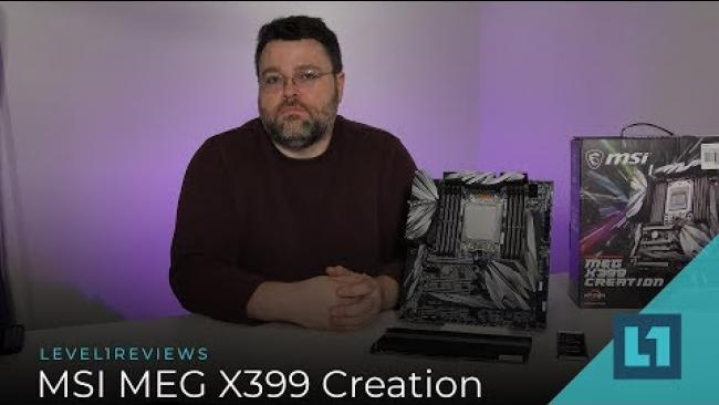 Embedded thumbnail for MSI MEG X399 Creation Motherboard Review + Linux Test