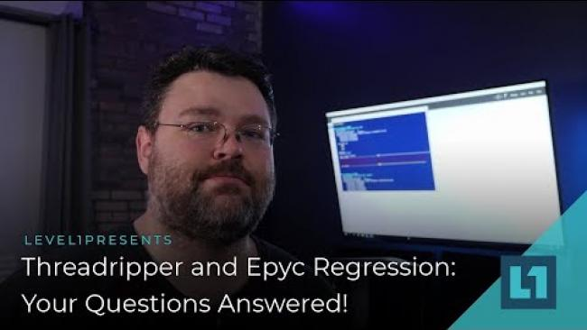 Embedded thumbnail for Follow Up: More Epyc 7551P Testing & Your Questions Answered #level1diagnostic