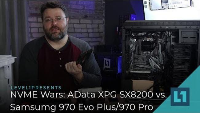 Embedded thumbnail for NVME Wars: Adata XPG SX8200 vs Samsung 970 Pro/EVO Plus