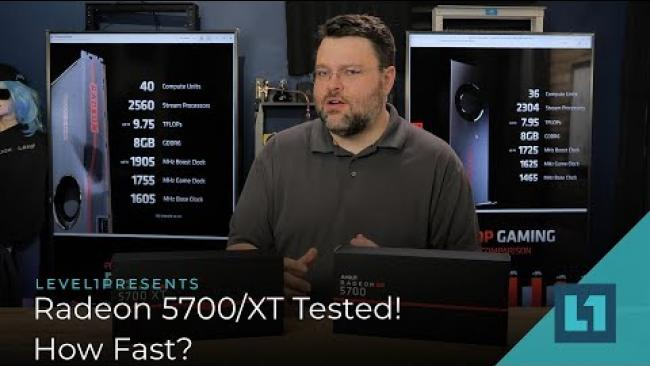 Embedded thumbnail for How fast is the Radeon 5700 & 5700 XT? What about RTX?