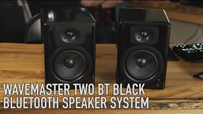 Embedded thumbnail for Powered Speakers from Germany: Wavemaster Two BT Black Bluetooth Speaker System