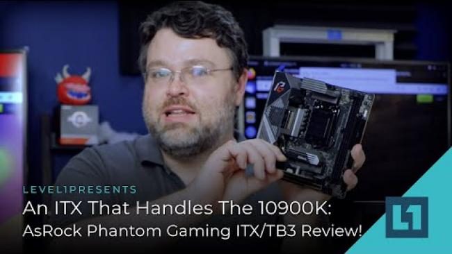 Embedded thumbnail for An ITX That Handles The 10900K: AsRock Z490 Phantom Gaming ITX/TB3 Review!