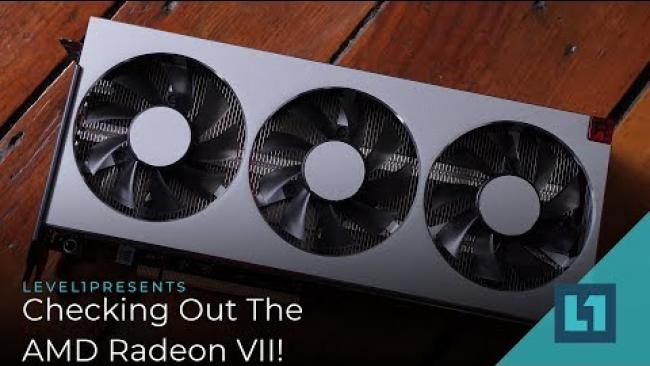 Embedded thumbnail for Checking Out The AMD Radeon VII! (Great for Content Creators!)
