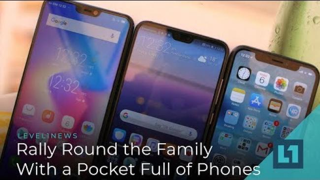 Embedded thumbnail for Level1 News January 1 2019: Rally Round the Family With A Pocket Full of Phones Patron Ed.