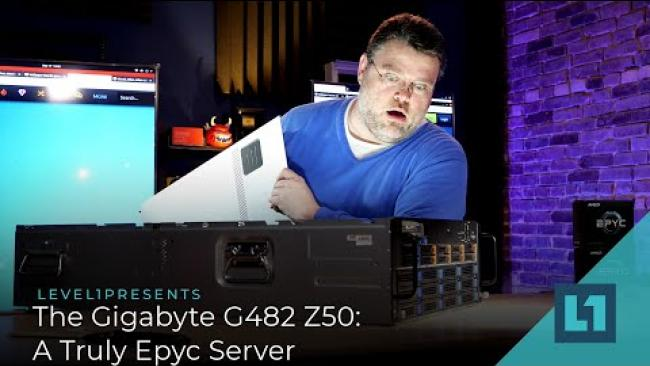 Embedded thumbnail for Checking Out The Gigabyte G482 Z50: A Truly Epyc Server