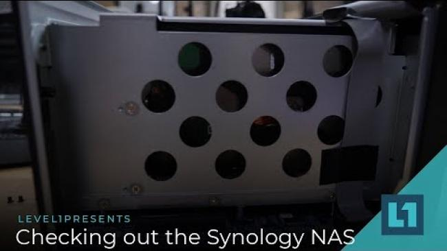 Embedded thumbnail for Checking Out The Synology NAS
