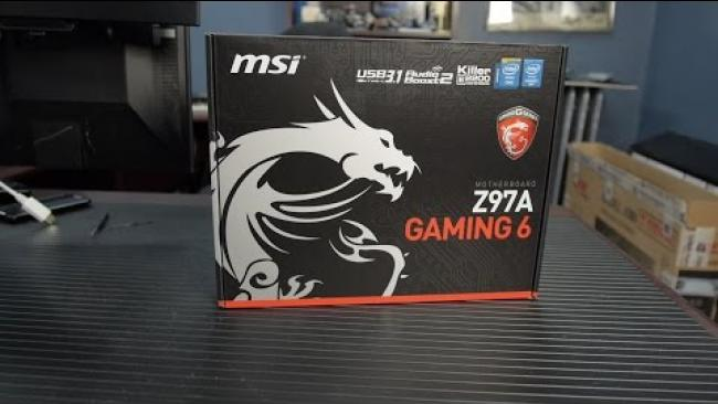 Embedded thumbnail for MSI Z97A Gaming 6 - USB3.1c 10 gigabit Uboxing & Overview