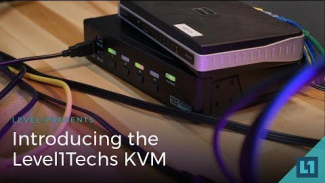 Embedded thumbnail for The Level1Techs KVM (Keyboard, Video Mouse) Switch - 4k/60hz monitor & USB Switchbox