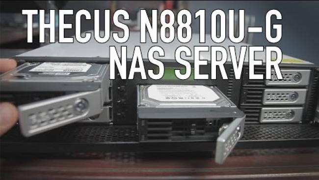 Embedded thumbnail for Thecus N8810U-G NAS Server (10 Gigabit, Rackmount) Review & Software Demo
