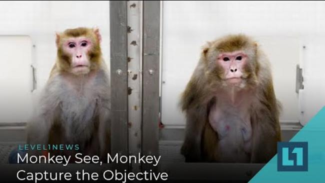 Embedded thumbnail for Level1 News February 10 2021: Monkey See, Monkey Capture the Objective