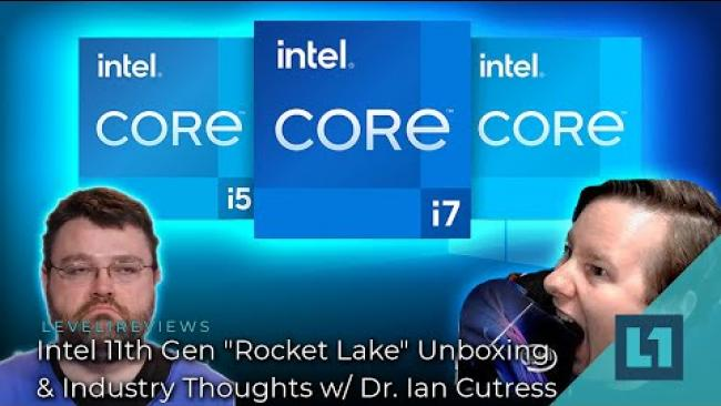 Embedded thumbnail for Intel Rocket Lake Launch - Live w/ Dr Ian Cutress (3:00 pm EDT)