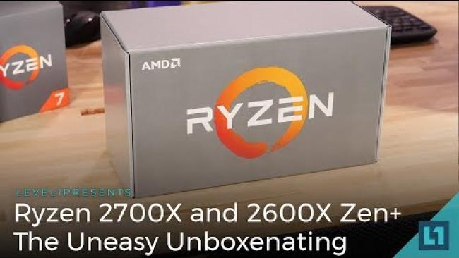 Embedded thumbnail for Ryzen 2700X and 2600X Zen+: The Uneasy Unboxenating