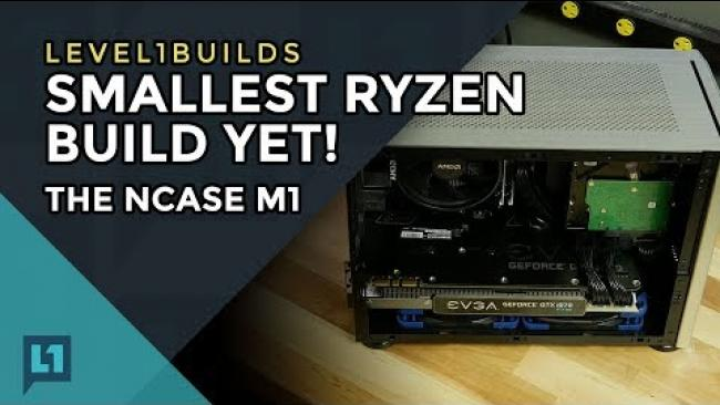 Embedded thumbnail for Smallest Ryzen Build Yet! The NCASE M1