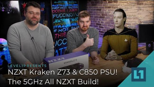 Embedded thumbnail for NZXT Kraken Z73 & C850 PSU! The 5GHz All NZXT Build!