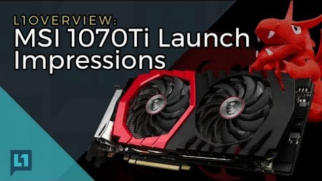 Embedded thumbnail for MSI GTX 1070Ti Unboxing & First Tests