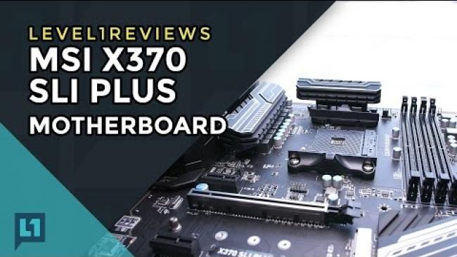 Embedded thumbnail for MSI X370 SLI Plus Ryzen Motherboard Review + Linux Test