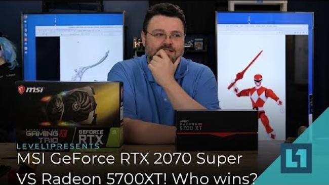 Embedded thumbnail for MSI Gaming GeForce 2070 SUPER VS 5700XT!