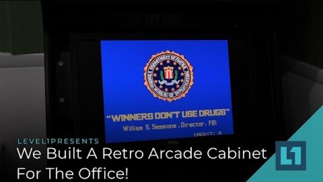 Embedded thumbnail for We Built A Retro Arcade Cabinet For The Office!