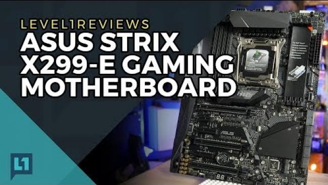 Embedded thumbnail for Asus Strix X299-E Gaming Motherboard Review
