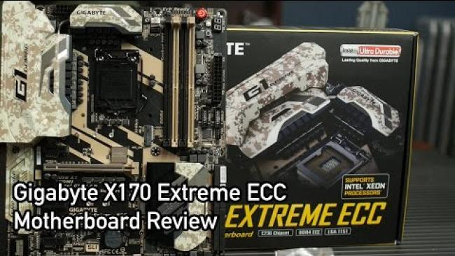 Embedded thumbnail for Gigabyte X170 Extreme ECC Motherboard Review