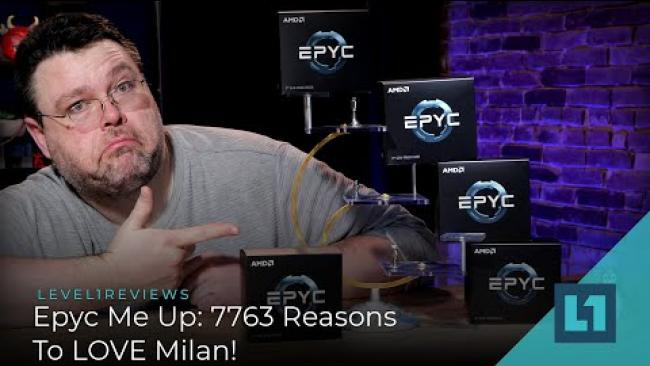 Embedded thumbnail for Epic Me Up: 7763 75F3 Server CPU Shakeup with Milan