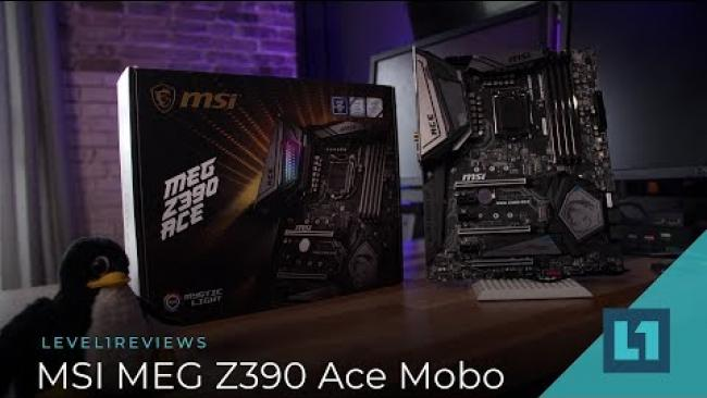Embedded thumbnail for MSI MEG Z390 Ace Motherboard for 8/9th gen Intel CPUs + Linux Test