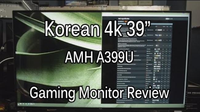 """Embedded thumbnail for Affordable 39"""" 4k Gaming Monitor - The AMH A399U"""