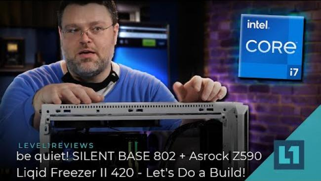 Embedded thumbnail for be quiet! SILENT BASE 802 + Asrock Z590/Liqid Freezer II 420 - Let's Do a Build!