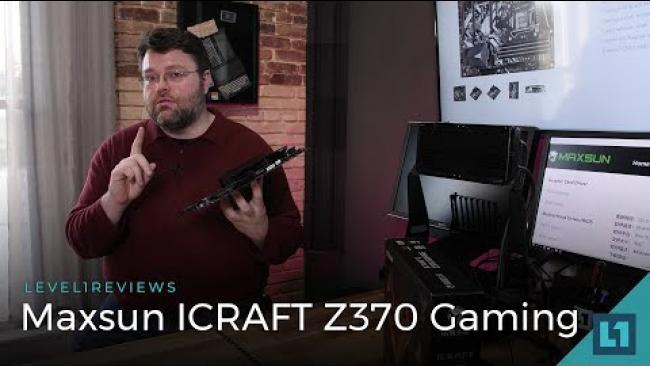Embedded thumbnail for MaxSun ICRAFT Z370 Gaming Motherboard Review