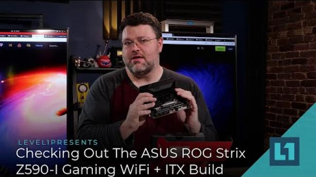 Embedded thumbnail for Checking Out The ASUS ROG Strix Z590-I Gaming WiFi + Rocket Lake ITX Build
