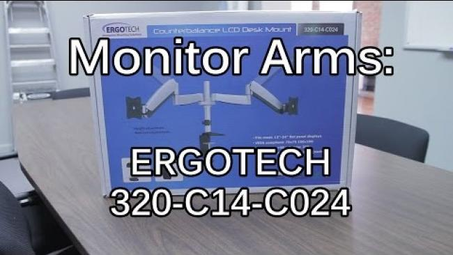 """Embedded thumbnail for Ergotech Monitor Arms - Unboxing & Dual 27"""" Setup"""