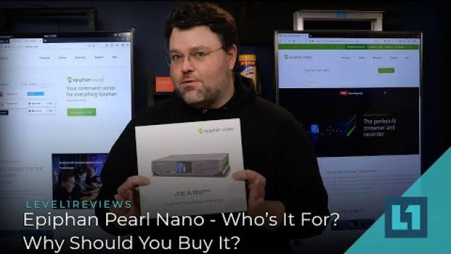 Embedded thumbnail for Epiphan Pearl Nano - Who's It For, & Why Should You Buy It?