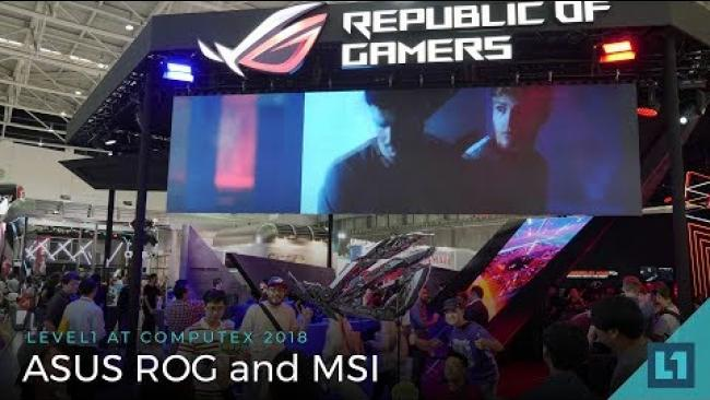 Embedded thumbnail for Computex 2018: ASUS ROG and MSI