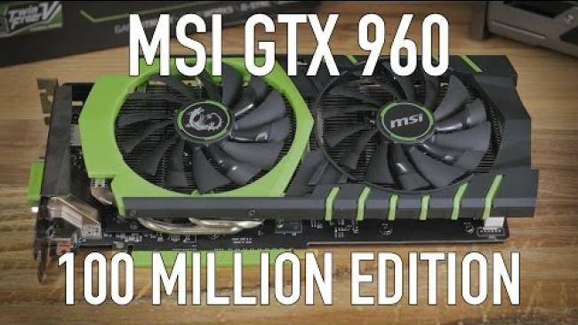 Embedded thumbnail for MSI GTX 960 100 Million Edition (Limited) Review & Benchmarks