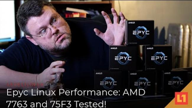 Embedded thumbnail for Epyc Linux Performance: AMD 7763 and 75F3 Tested!